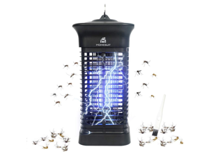 Homesuit Bug Zapper 15W for Outdoor and Indoor ,High Powered 4000V Electric Mosquito Zappers Killer , Waterproof Insect Fly Trap Outdoor ,Electronic Light Bulb Lamp for Home Backyard Patio