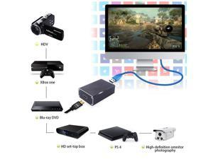 UKCOCO Audio Video Capture Card, USB3.0 HDMI Video Capture Device, Full HD 1080P 60FPS for Game Recording, Live Streaming Broadcasting,compatible with Windows, Linux and OS X-Black