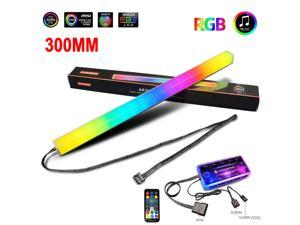 UKCOCO 30cm LED RGB Strip Magnetic Double-sided Luminescent Light Bar for Computer Cases, With Music Remote Control and Remote Control