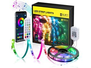 1 Roll 16.4ft LED Strip Lights, Ultra Long RGB 5050 Color Changing LED Light Strips Kit, Wireless App Control, Music Sync Color Changing, for Bedroom TV Backlight Bar Computer Case Party Decoration