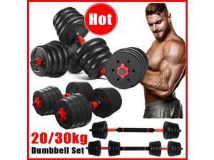 HOMEMAXS 66lb Dumbbell Set Adjustable Dumbbells weights cap 30kg NEW Weight barbell