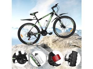 """HOMEMAXS 27.5"""" Full Suspension Mountain Bike 21Speed Adult Bicycle MTB with Derailleur System Mechanical Disc Brakes"""