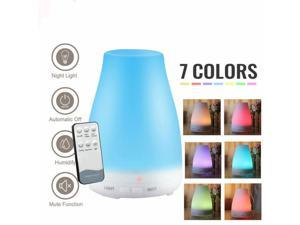 HOMEMAXS Aroma Humidifier, 200ML Ultrasonic 7 LED Light Color Essential Oil Diffuser Humidifier Whisper Quiet Operation Ultrasonic Humidifier for Home, Baby Lasts Up to 8 hours