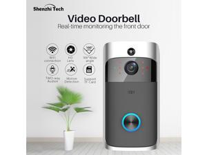 HOMEMAXS Smart Home Wireless WiFi Video Doorbell Visible Remote Two-way Video Phone Intercom HD IR Night Vision Home Security Camera