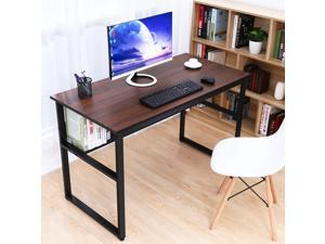"""HOMEMAXS Computer Desk Table 47"""" Study Writing Table for Home Office, Modern Sturdy Office Desk for Small Spaces with Bookshelf"""