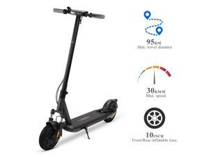 VORCOOL L9 Electric Scooter, 10-inch Inflatable Tires, 59 Miles Long-range Battery, Up to 18.6 MPH, Easy Fold Design, Ultra-Lightweight Adult Electric Scooter