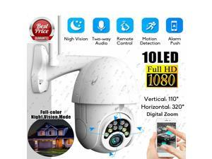 Wireless Outdoor Security Camera, 1080P HD 360 Degree Rotation WiFi Security Camera Wireless for Home Surveillance System with Color Night Vision, PIR and Radar Dual Detection, 2-Way Audio