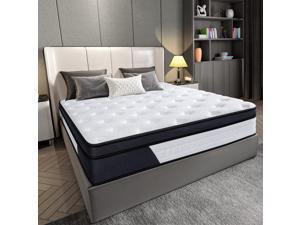 Homemaxs Queen Size Mattress, 9.8 Inch Gel Particle Memory Foam Mattress, CertiPUR- US Certified, Pressure Relieving Mattress, White