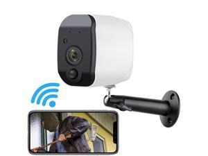 Wireless WiFi Security Camera, Home Security Camera, Night Vision, Indoor/Outdoor, 1080P Video with Motion Detection, 2-Way Audio, Waterproof, compatible with Cloud Storage/SD Slot
