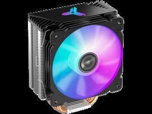 JONSBO CR1000 COLOR CPU Cooler , Air Cooler RGB H158mm, 4 Copper Heat Pipe Insert Aluminum Fin for AMD Ryzen/Intel LGA115X, 120mm PWM RGB Fan with Detachable Blade, Top Cover RGB, Black