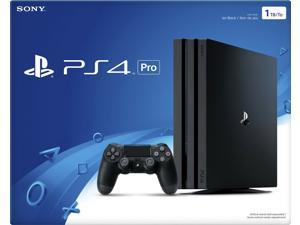 Sony Playstation 4 Pro Jet Black Console [4K Hdr, Enhanced Gaming, Sony Ps4]