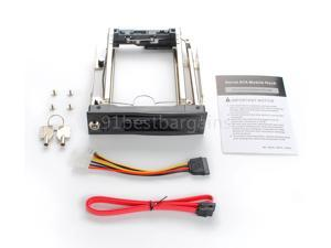 """5.25"""" Bay To 3.5"""" Internal Sata Hard Disk Mobile Rack For Ssd Hdd Hotswap@Us"""