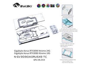 Bykski GPU Water Block With Active Waterway Backplane Cooler For Gigabyte Aorus RTX 3090 3080 Xtreme N-GV3090AORUSXE-TC
