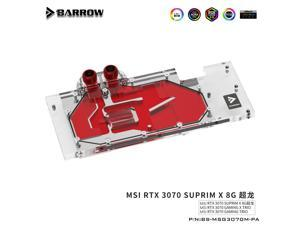 Barrow 3070 GPU Water Block for MSI RTX 3070 GAMING X TRIO, Full Cover ARGB GPU Cooler, PC Water Cooling, BS-MSG3070M-PA