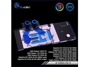 Bykski A-VEGA-FE-X, Full Cover Graphics Card Water Cooling Block RGB/RBW, for Founder Edition VEGA, Sapphire/XFX/Dataland