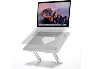 Laptop Stand for Desk Adjustable Height Aluminium Laptop Riser, TopMate Metal Computer Stands Laptop Support, Notebook Mount Holder MacBook Lift Shelf, Compatible with 10-17.3 Inch Laptops (Silver)