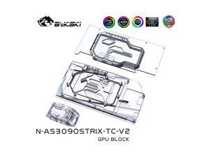 Bykski N-AS3090STRIX-TC-V2 GPU Water Block With Waterway Backplane For ASUS RTX3080 3090 STRIX Gaming