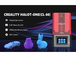Creality Official HALOT-ONE (CL-60) Resin 3D Printer with Precise Integral Light Source, WiFi Control and Fast Printing,Dual Cooling & Filtering System, Assembled Out of The Box