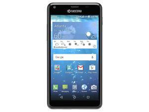 "Kyocera Hydro Shore Durable Smartphone (AT&T Unlocked) 5.0"" Quad HD Touchscreen   IP57 Waterproof and Dustproof Certified   8GB + 1GB RAM - Black"