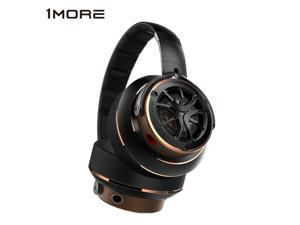 1MORE Triple Driver Over-Ear Headphones Comfortable Foldable Earphones with Hi-Res Hi-Fi Sound, Bass Driven, Tangle-Free Detachable Cable for Smartphones/Android/PC/Tablet - Gold/Titanium