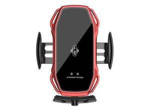 Magnetic car wireless charging bracket universal mobile phone A5S fast charging installation ventilation clip charger