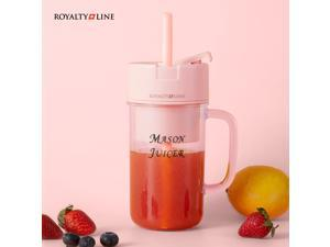 Portable Blender, One-handed Drinking Mini Blender for Shakes and Smoothies, Personal Blender with Rechargeable USB, Made with BPA-Free Material Portable Juicer, Powerful Kitchen Electric Mixer Mini