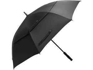 Golf Umbrella Large 60 Inch Automatic Open Golf Umbrella Extra Large Oversize Double Canopy Vented Umbrella Windproof Waterproof for Men and Women