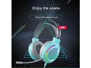 Pink Headphones Gaming Headset With Microphone Professional Gamer 7.1 Surround Sound RGB for PC Computer