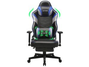 Gaming Chair-Ergonomic Office Chair Leather PC Computer Desk Chair Racing Style Recliner Gamer Chairs with Headrest and Lumbar Support Adjustable Swivel Task Chair for Adults Teens