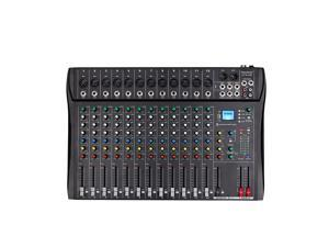 Depusheng DT12 Studio Audio Mixer 12-Channel DJ Interface USB Drive for Computer Recording Input, XLR Microphone Jack, 48V Power, RCA Input/Output for Professional