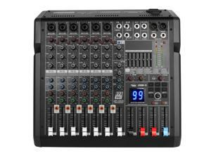 Bomaite B8 Professional 10-Channel Bluetooth Mixing Console with Reverb Effect, 3-band EQ, 48V Phantom, USB MP3 Player for Computer Recording, Bands