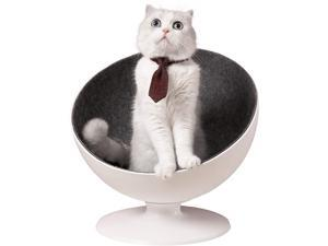 Furrytail Boss Cat Bed, Elevated Cat Chair with 360-degree Rotation System and Removable Easy Clean Fabrics Lining, Premium Bowl Shape Design Raised Cat Sofa Chair
