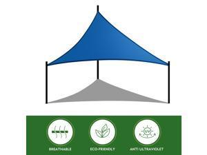 16' x 16' x 16' Triangle Sun Shade Sail  UV Block Canopy, Shade for Patio Outdoor Lawn Garden