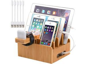 Pezin & Hulin Charger DockStand,Multiple Devices Station Organizer for Cell Phones, Tablet, AirPods, iWatch , Stand.(Includes 5 Cables BUT NO Charger HUB)