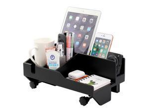 Pezin & Hulin Vertical bedside table, Bamboo adjustable bedside storage organizer, bunk bed, dormitory bed.(black)