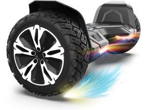 GYROOR Warrior 8.5 inch All Terrain Off Road Hoverboard with Bluetooth Speakers and LED Lights, UL2272 Certified Self Balancing Scooter