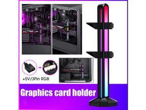 Weastlinks Graphics Card Bracket vga Holder Jack Desktop Computer Case 5V3Pin ARGB Video Card GPU Water Cooling Kit Support Stand