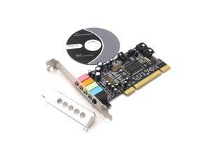Weastlinks Classic PCI Sound Card 5.1CH CMI8738 Chipset Audio Digital Sound Card Desktop Stereo Surround PCI Sound Audio Card