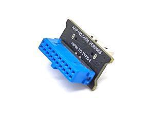 Weastlinks USB 3.0 Internal 19 Pin Header to USB 3.1 Type-C (20 Pin) Key E Adapter Card for USB Type-C Port