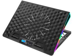 AICHESON RGB Laptop Cooling Cooler Pad for 15.6-17.3 Inch Notebook 1 Fan Heavy Coolers Pads, 2 USB Ports, AA2