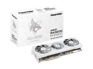 PowerColor Hellhound Spectral White AMD Radeon RX 6700 XT Gaming Graphics Card with 12GB GDDR6 Memory, Powered by AMD RDNA 2, HDMI 2.1