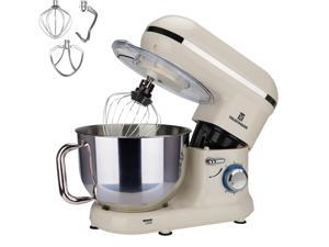 FaaliArt Stand Mixer, 5.8 QT Bowl 660W Food Mixer, Multi Functional Kitchen Electric Mixer With Dough Hook, Whisk, Beater, Egg White Separator(8.45 QT, Black)