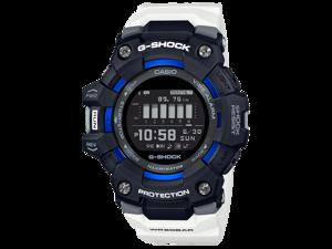 G-Shock GBD100-1A7 Bluetooth Power Trainer Series Mens Digital Black/White/Blue Smart Watch