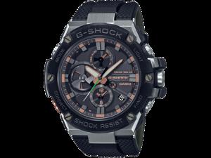 Casio G-Shock Men's GSTB100GA-1A Analog-Digital Bluetooth Solar Powered Watch Rose Gold Blue