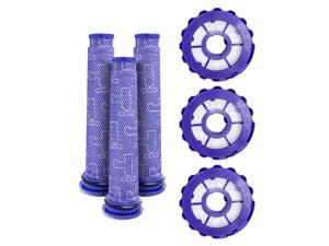 LTWHOME Replacement Vacuum Filters HEPA Post Filters & Pre Filters Kit Fit for Dyson DC40 Upright Vacuum Cleaner, Compare to Part 923587-02 & 922676-01 (Pack of 3 Sets)