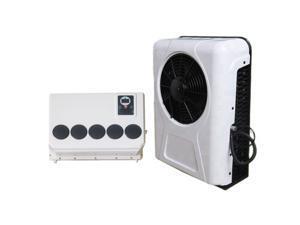 Treeligo Universal electric 12V air conditioner for mini bus truck pickup farm tractor RV 6600btu 960w