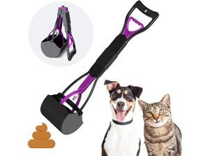 DOTSOG Pet Pooper Scooper Long Handle Foldable Poop Scoop Shovel for Large & Small Dogs,Foldable Dog Poop Waste Pick Up Rake, Jaw Claw Bin for Grass and Gravel