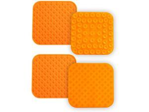 DOTSOG Dog Lick Pads - 2 Large Dog Washing Distraction Device, Peanut Butter Lick Mat, Dispensing Treater Mat with Super Suction for Pet Bathing, Grooming, Dog Training