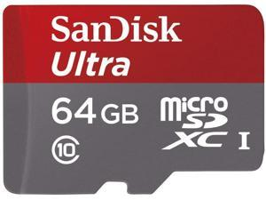 SanDisk 64GB Ultra microSDXC A1 UHS-I/U1 Class 10 Memory Card with Adapter, Speed Up to 120MB/s (SDSQUA4-064G-GN6MA)