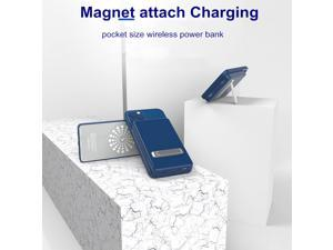 Magnetic Power bank Charger - Mag-Safe Wireless Power Bank - 5000mA Fast Portable Wireless Charger - Pocket Size Battery Bank - Portable Wireless Charger Compatible with Phone 12Pro, Max, and More